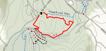 Tucker Brook Loop Map