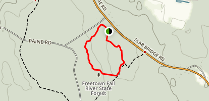 Freetown Fall River State Forest Loop Map
