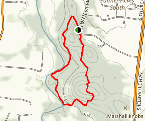 Marshall Knobs River Loop Map