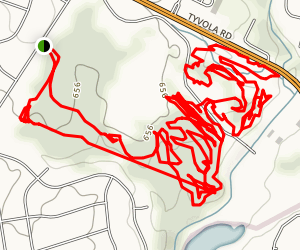 Back Yard Mountain Bike Trails Map