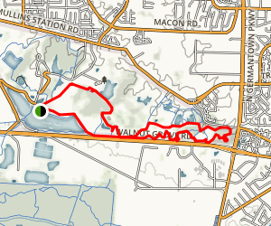 Tour de Wolf from Pine Lake Map