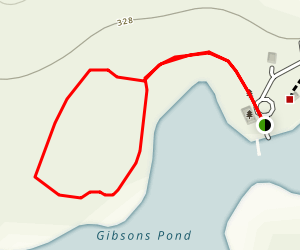 Gibson's Pond Park Loop Map