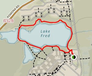 Lake Fred Loop Map