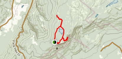 Sam's Point, Ice Caves, and Indian Rock Loop Map