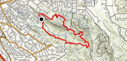 Deep Lake Trail to Ridge Top Trail to Briones Regional Trail Map
