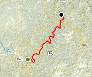 Levisa Fork: Paintsville to Ulysses  Map