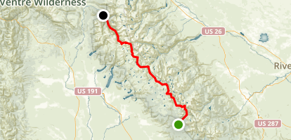 Wind River, (South to North) Map