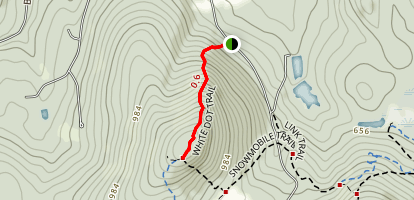 White Dot Trail to North Uncanoonuc Mountain Map