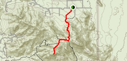 Tom's Thumb Trail to Lookout Map