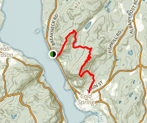 Breakneck Ridge to Cold Spring via Undercliff Trail Map