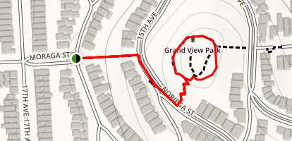 Moraga Steps to Grand View Park Map