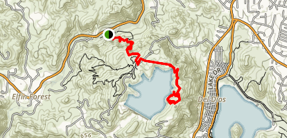 Way Up Trail to Lake Hodges Overlook Trail Map