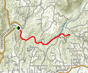 Santa Margarita River Trail Map