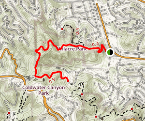 Wilacre Park to Coldwater Canyon Park Map