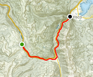 Ten Mile Canyon Trail to Frisco Copper Bike Path Map
