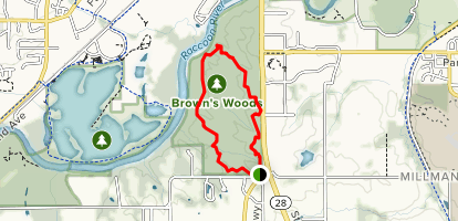Brown's Woods Trail Map