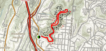 Stringer's Ridge Via Cherokee and Strut Trails Map