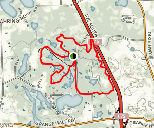 Holdridge Lakes Loops Map