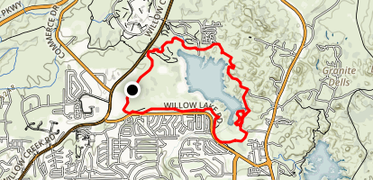 Willow Lake Trail Map