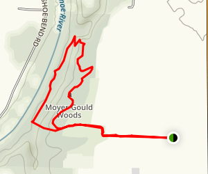 Moyer - Gould Woods Loop Map