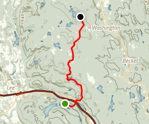 Appalachian Trail: Pittsfield Road to Goose Pond Map