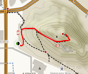 """A"" Mountain (Tempe Butte) Trail Map"