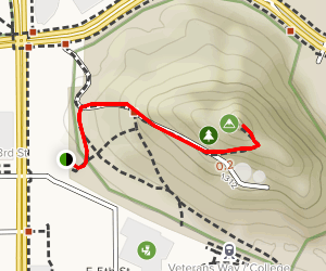 """A"" Mountain (Hayden Butte) Trail Map"