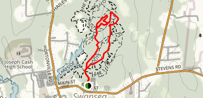 Fire Road, Thing One and Thing Two Loop Map