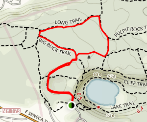 Dry Lake to Big Buck and Long Trail Loop Map