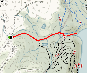 Pot Spring Road Fire Trail to Loch Raven Reservoir Map