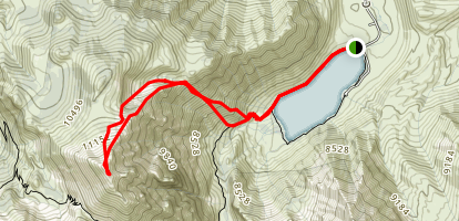 Lake Convict to Laurel Mountain Map