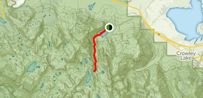 Convict Creek Trail to Mildred Lake Map
