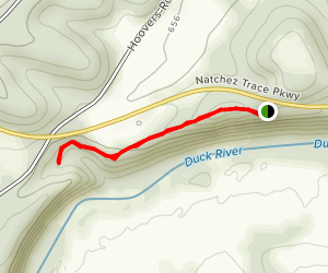 Baker Bluff to Jackson Falls Map