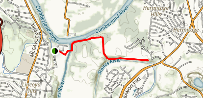 Stones River Greenway from Heartland Map