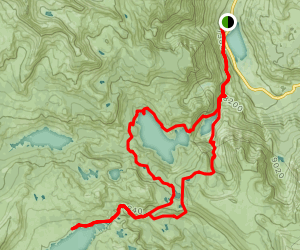 Silver Lake to Thousand Island Lake Loop Map