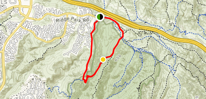No Name Ridge, Ticketron Deer Canyon, Red Tail Ridge and Bommer Ridge Loop Map