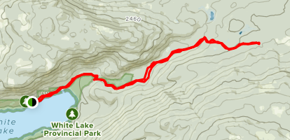 White Lake Provincial Park & Bastion-Ivy Fire Trail Map