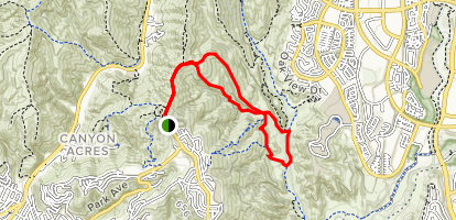 Mathis Canyon Trail to Car Wreck Trail Loop Map