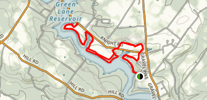 Green Lane - Red Trail Map