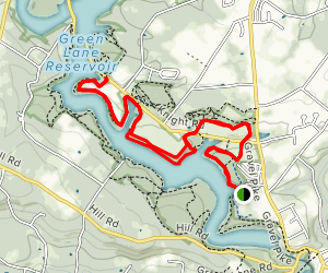 Green Lane Reservoir Park Red Trail Map