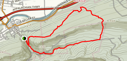 Castenea Boulder Field Loop Map