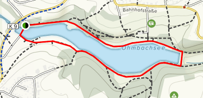 Ohmbachsee Lake Map