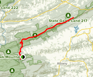 Appalachian Trail: Eckville Lot to Blue Mountain House Road Map