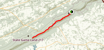 Appalachian Trail: Blue Mountain House Road to Bake Oven Knob Map