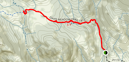 Davis Meadow Trail Map