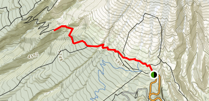 Timberline Lodge to Zig Zag Canyon Map