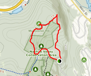 North Monoosnoc Hill Loop Map