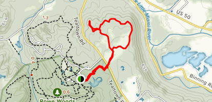 Rowe Woods Lookout Loop Map