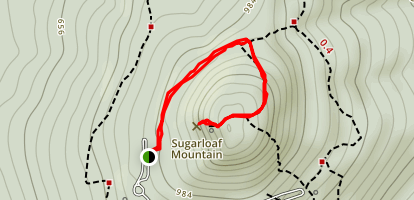 Northern Peaks and Monadnock Trail to Sugarloaf Mountain Map