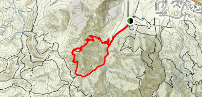 Black Point Summit Loop from Mitchell Canyon Map